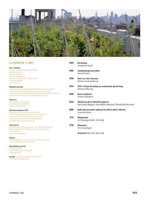 landskab 6 2011 - Danske Landskabsarkitekter