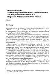 Tibetische Medizin: Anwendung und Wirksamkeit von Heilpflanzen ...