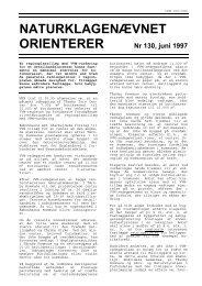 NATURKLAGENÆVNET ORIENTERER Nr 130, juni 1997