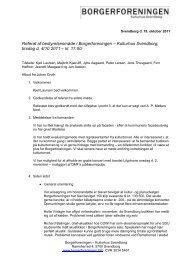 Referat af bestyrelsesmøde i Borgerforeningen – Kulturhus ...