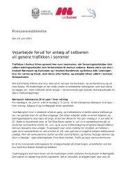 Pressemeddelelse 19. juni 2013 - Aarhus Vand
