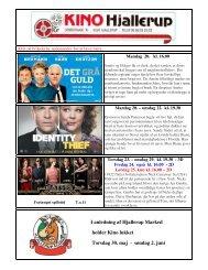 Læs nyhedsbrevet 20. maj 2013 her - Kino Hjallerup