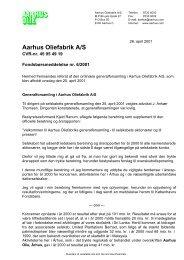 Aarhus Oliefabrik A/S - AAK