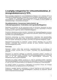 Lovpligtig redegørelse for virksomhedsledelse 2012 - AO.dk