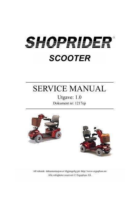 SCOOTER SERVICE MANUAL - Ergopluss AS