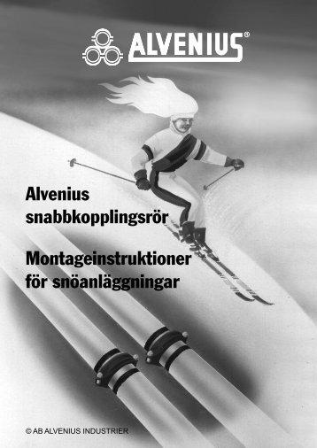 Alvenius Snabbkopplingsrr Montageinstruktioner Fr Snanlggningar