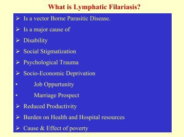 What is Lymphatic Filariasis?