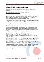 Informationsfolder til tømningsordningen - Hillerød Forsyning