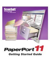 PaperPort 9 Getting Started Guide - Visioneer