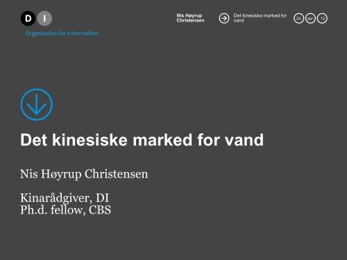 Det kinesiske marked for vand - Danish Water Forum