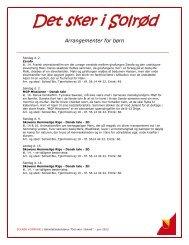 Oversigt over arrangementer i juni 2013 - Solrød Kommune