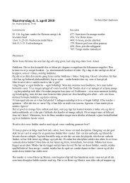 Skabelon til prædikener lagt på hjemmesiden - Sct. Peders sogn