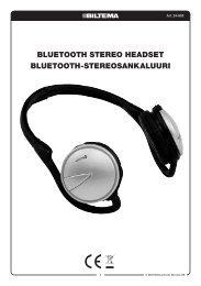 bluetooth stereo headset bluetooth-stereosankaluuri - Biltema