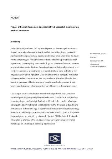Notat bundprøver - WebKontrol V.5 | Bakuri A/S