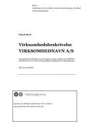 Skabelon til virksomhedsbreskrivelse (pdf) - DI Videnrådgiverne