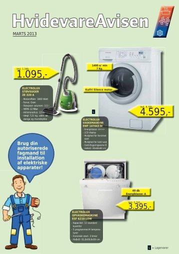 Brug din autoriserede fagmand til installation af elektriske apparater!