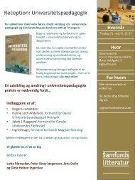 Reception - Dansk Universitetspædagogisk Netværk