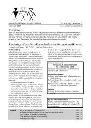 september 2007 (11-3) - Forum for Matematikkens Didaktik