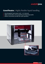 Genetheatre   Highly flexible liquid handling - Analytik Jena AG