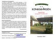 Nyhedsbrev nr. 4 fra november 2007 - Kongsgaarden Vester Broby