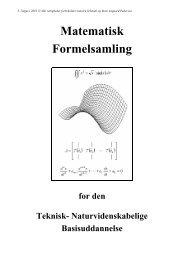 Matematisk Formelsamling - Institut for Planlægning - Aalborg ...