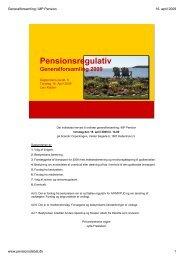 præsentation - Pensionsdebat.dk