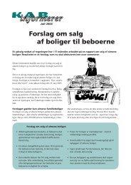 Forslag om salg af boliger til beboerne - KAB