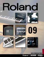 NYE PRODUKTER - Roland Scandinavia a/s