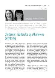 Studenter, fadderuke og alkoholens betydning - Borgestadklinikken