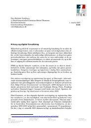 Privacy og digital forvaltning Sikkerhed og tillid til it-systemer er af ...