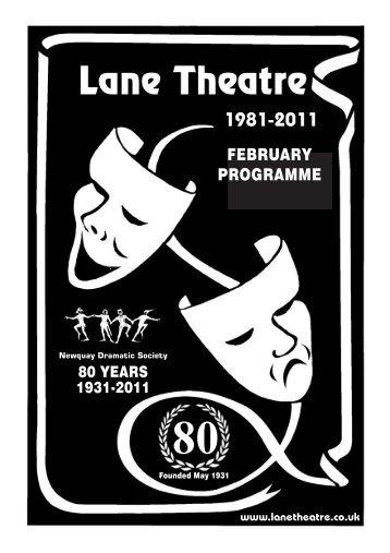 FEBRUARY PROGRAMME - Lane Theatre Newquay