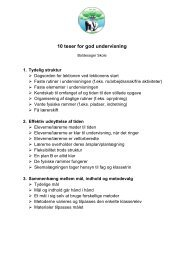 10 teser for god undervisning - Boldesager Skole