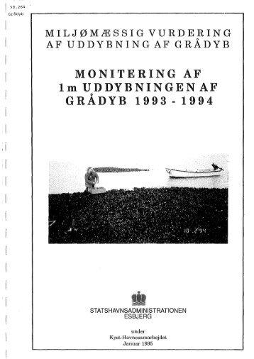 MONITERING AF 1m UDDYBNINGEN AF GRADYB 1993 .. 1994