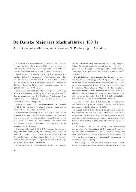 De Danske Mejeriers Maskinfabrik i 100 år
