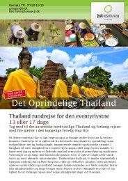 Det Oprindelige Thailand - Jysk Rejsebureau