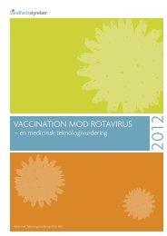 Rapport: Vaccination mod rotavirus - Sundhedsstyrelsen