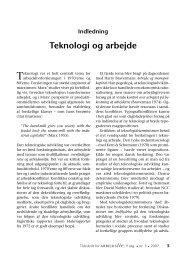 Indledning: Teknologi og arbejde - Jørgen Burchardt