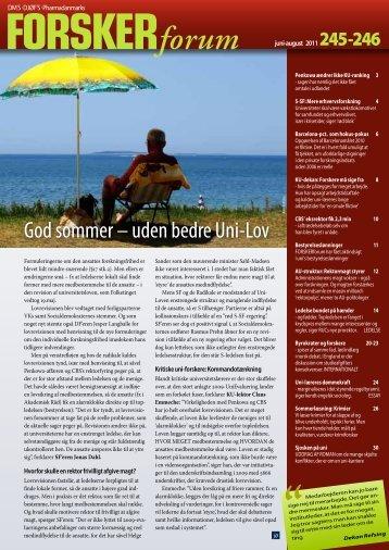 God sommer – uden bedre Uni-Lov - FORSKERforum