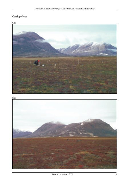 Spectral Calibration for High Arctic Primary Production Estimation