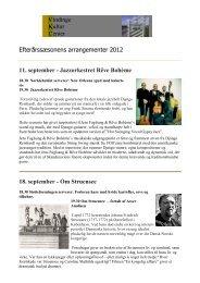 Efterårssæsonens arrangementer 2012 11. september ...