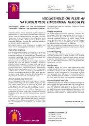 Vedligehold af Naturolierede trægulve - Timberman
