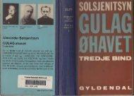 Solsjenitsyn, Gulag Øhavet, Bd.3, s. 86-98