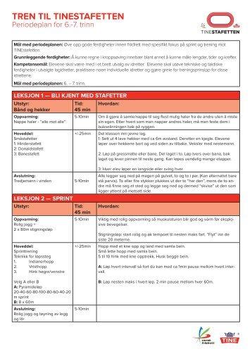 Periodeplan 6-7 trinn - Friidrett i skolen