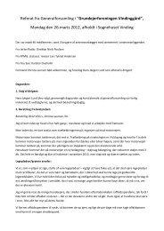 """Referat fra Generalforsamling i """"Grundejerforeningen Vindinggård ..."""