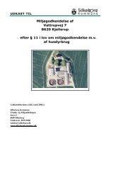 PDF version af Udkast til §11 miljøgodkendelse - Silkeborg Kommune