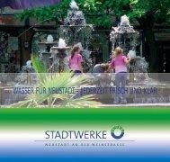 Infobroschüre Wasser - Stadtwerke Neustadt