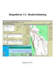 ShapeServer 1.3 - Brukerveiledning - Home