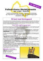 Folkekirkens Skoletjeneste - Skole Kirke Samarbejde