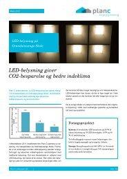 LED-belysning giver CO2-besparelse og bedre indeklima - Plan-C