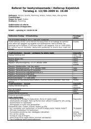 Referat bestyrelsesmøde 13-08-2009 - Hellerup Kajakklub